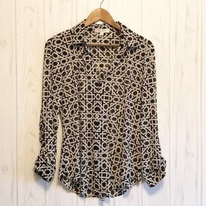 Anthropologie eden and Olivia sheer blouse